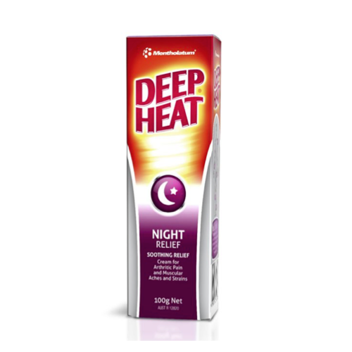 MENTHOLATUM Deep Heat Night Cream, 100g