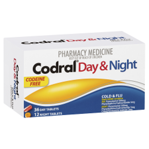 CODRAL Day & Night Codeine Free Tablets
