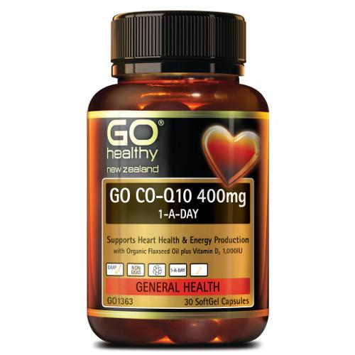 GO CO-Q10 400mg 1-A-Day SoftGel Capsules, 30's