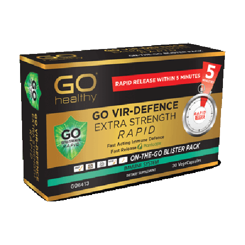 GO Vir-Defence Rapid Extra Strength VegeCapsules, 30's