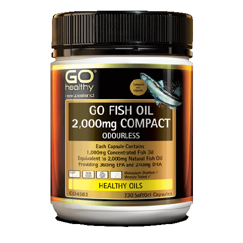 GO Fish Oil 2000mg Odourless Capsules, 230's