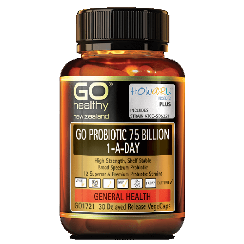 GO Probiotic 1-A-Day 75 Billion Capsules, 30's