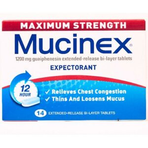 MUCINEX Max Strength 1200mg Tablets, 14's