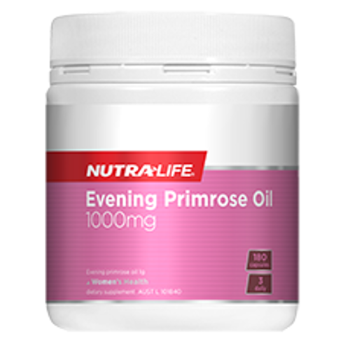 NUTRA-LIFE Evening Primrose Oil 1000mg Capsules, 180's