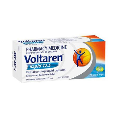 VOLTAREN Rapid 12.5mg Liquid Capsules, 20's